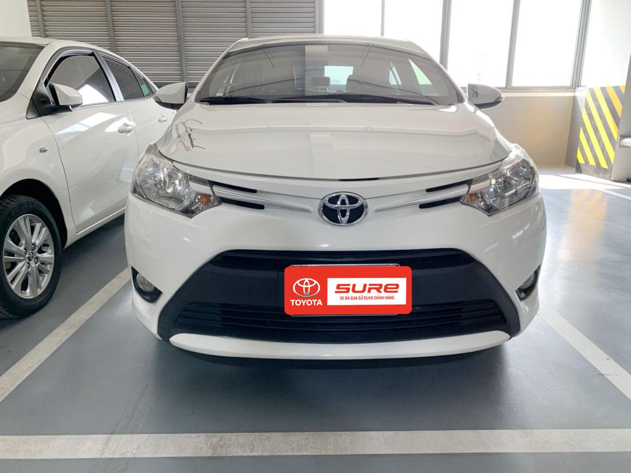Toyota Vios 1.5E 2017 màu trắng giá tốt