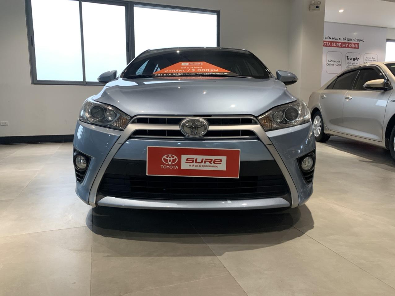 Toyota Yaris 1.3G 2015 màu xanh nhập khẩu
