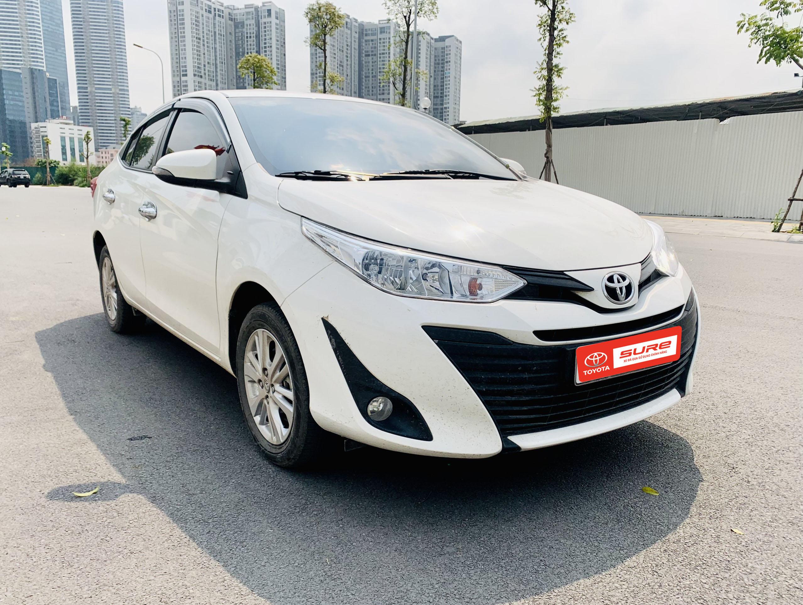 Toyota Vios E CVT 2020 màu trắng